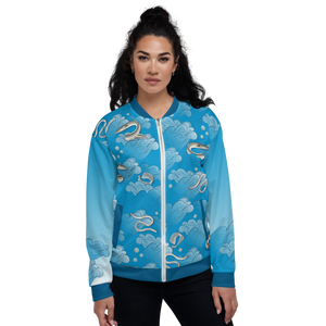 Eels on Rolling Waves Unisex Bomber Jacket