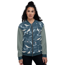 Load image into Gallery viewer, Narwhal Unisex Bomber Jacket