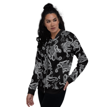Load image into Gallery viewer, Octopus in Black and White Unisex Bomber Jacket