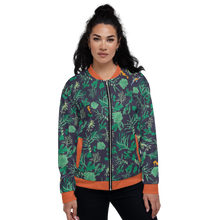 Load image into Gallery viewer, Seaweed and Seahorse Unisex Bomber Jacket
