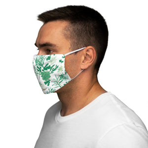 Seahorses and Seaweed Snug-Fit Polyester Face Mask