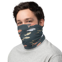 Load image into Gallery viewer, Salmon on Dark Gray Neck Gaiter