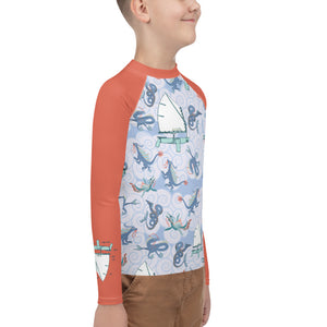 Sailing with Monsters Youth Rash Guard