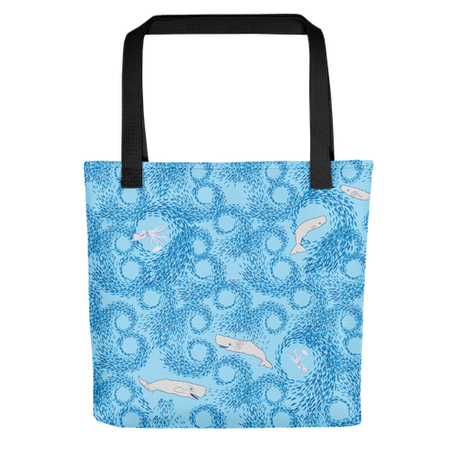 Whales and Squids Tote Bag