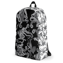 Load image into Gallery viewer, Octopus in B&W Backpack