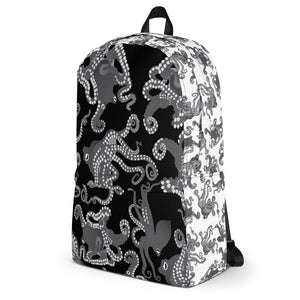 Octopus in B&W Backpack