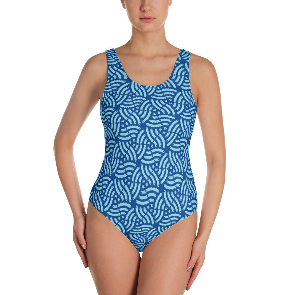 Geometric Fish One-Piece Swimsuit