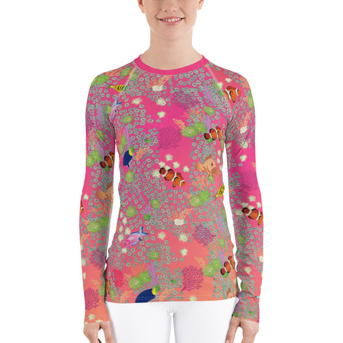 Coral Rash Guard Women's