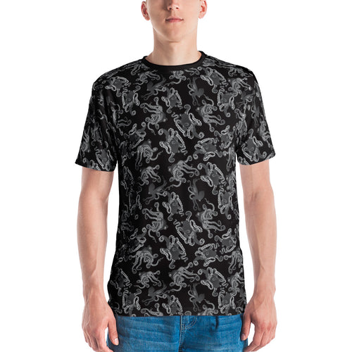 Octopus in B&W Men's T-shirt