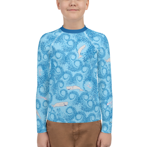 Whales and Squids Youth Rash Guard