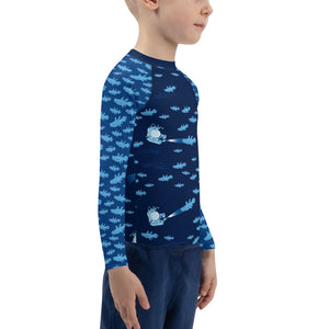Coelacanthus Rash Guard Kids 2T-7