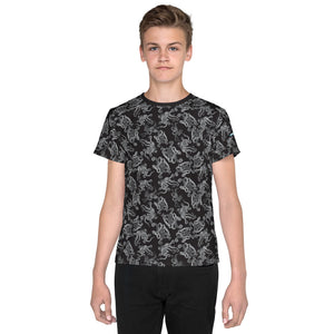 Octopus in B&W Kids/Teens T-Shirt