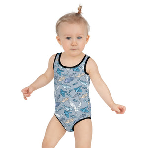 Atlantic Creatures Kids Swimsuit 2T-7