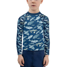 Load image into Gallery viewer, Fish +Crab of Atlantic Kids Rash Guard 2T-7