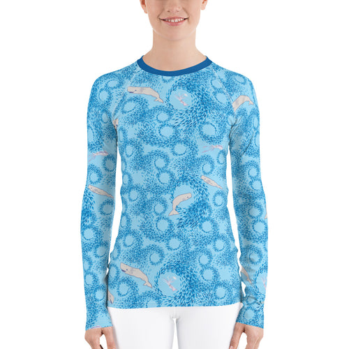 Whales and Squids Rash Guard Women's