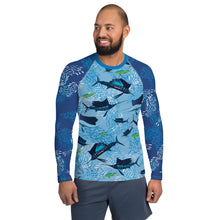 Load image into Gallery viewer, Sailfish on Light Men's Rash Guard