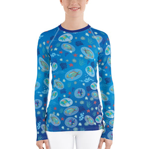 Parrot Fish Rash Guard Women's