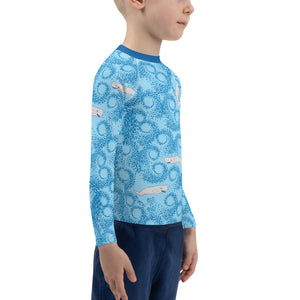 Whales and Squids Rash Guard Kids 2T-7