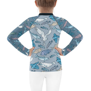 Atlantic Creatures Kids Rash Guard 2T-7