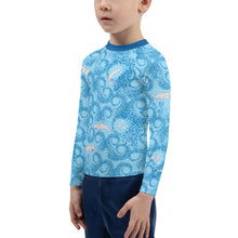 Load image into Gallery viewer, Whales and Squids Rash Guard Kids 2T-7