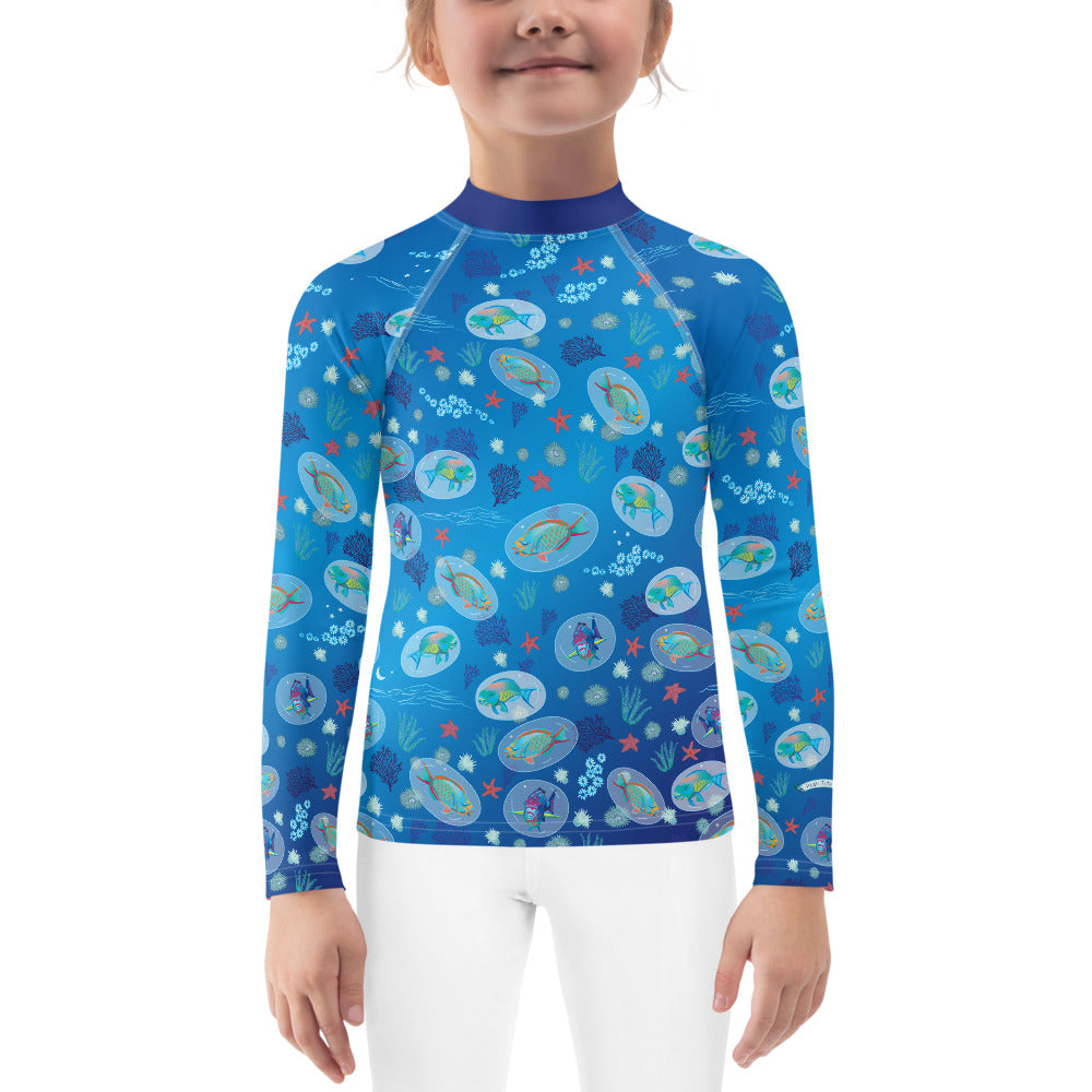 Parrotfish Rash Guard Kids 2T-7