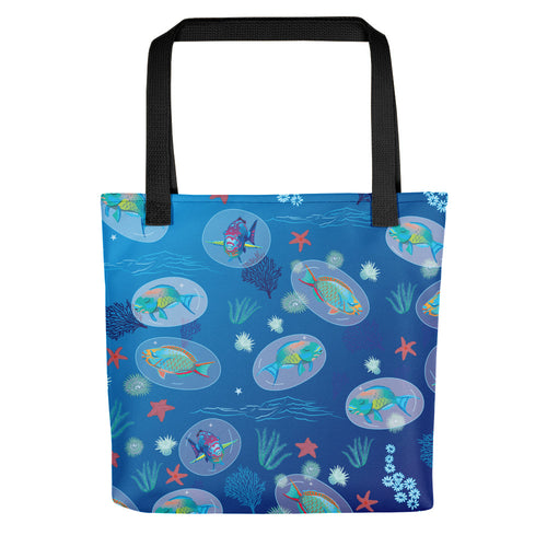 Parrotfish Sleeping Tote bag