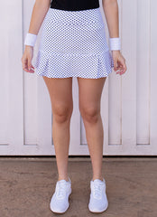 JoJo Skirt (White Polka Dot)