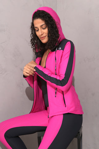 Wave Jacket (Pink/Blk)