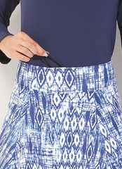 Skirted Capri (Tribal/Navy)