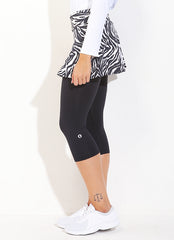 Skirted Capri (Zebra/Blk)