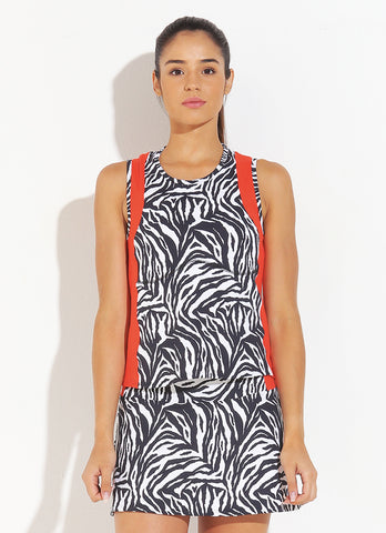 Match Tank (Zebra/Orange)