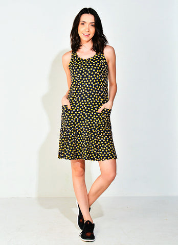 Spin Dress ECO (Gold Polka Dot)