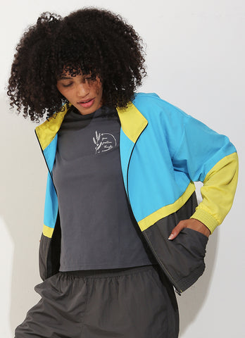 Track Jacket (Aqua/Yellow)