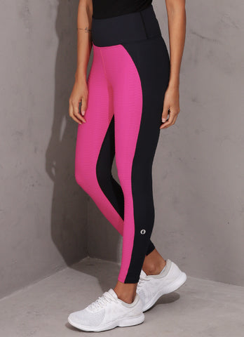 Wave Legging (Pink/Blk)