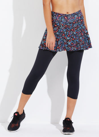 Skirted Capri ECO (Boteh/blk)