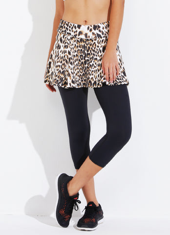 Skirted Capri ECO (Cheetah/blk)