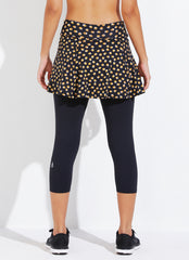 Skirted Capri ECO (Gold Polka Dot/blk)