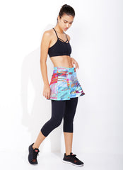 Skirted Capri (Seabreeze/Blk)