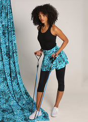Skirted Capri (Wildblue/Blk)