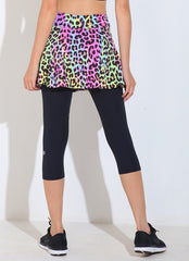 Skirted Capri ECO (Leopard/blk)