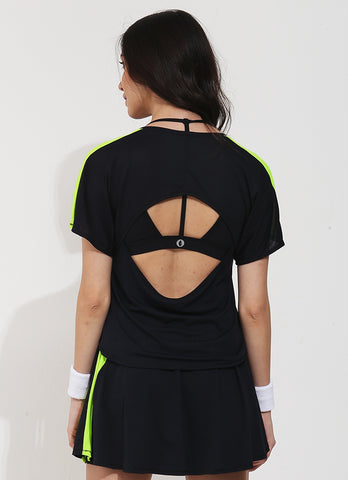 Serve T (Black/Green)