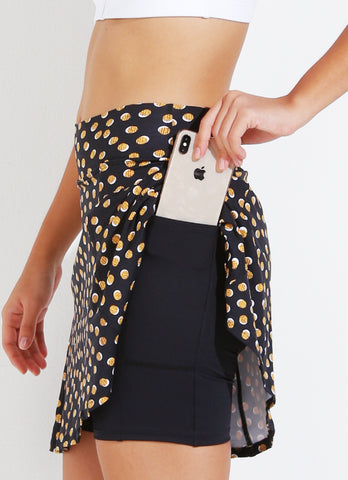 Ultimate Skirt (Gold Polka Dot)