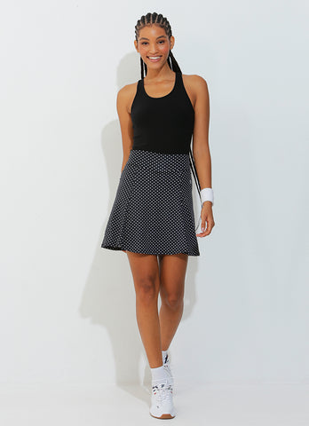 Ultimate Skirt (Black Polka Dot)