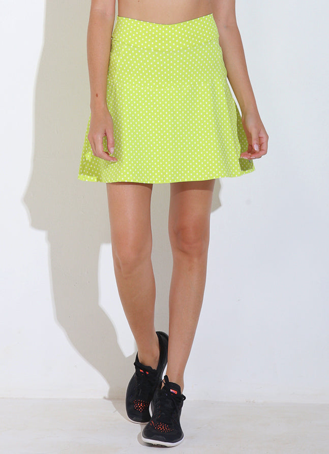 Birdie Skirt ECO (Lemon Polka Dot)