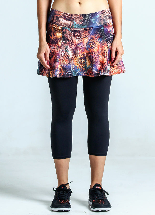 Skirted Capri (Buddha/Blk)