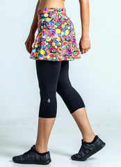 Skirted Capri (Fruity/Blk)