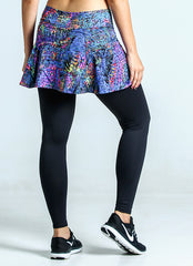 Skirted Legging (Kinetic/Blk)