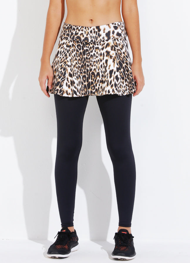 Skirted Legging ECO (Cheetah/blk)