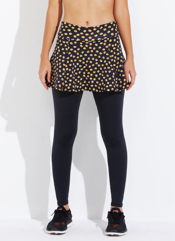 Skirted Legging ECO (Gold Polka Dot/blk)