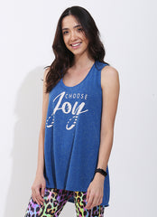 Choose Joy Tank (Blue)